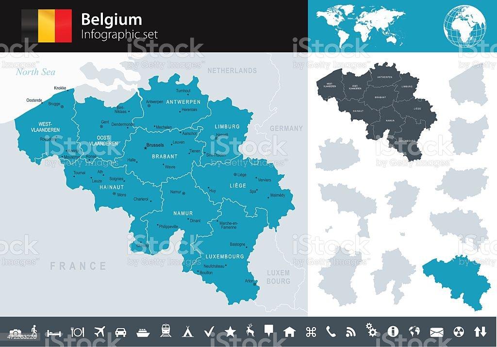 Belgium - Infographic map - illustration vector art illustration