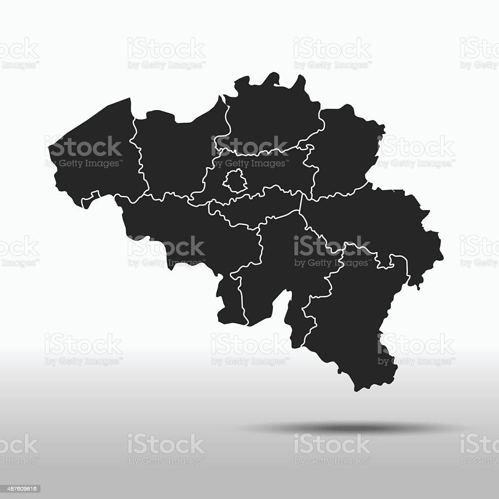 Belgium Map vector art illustration
