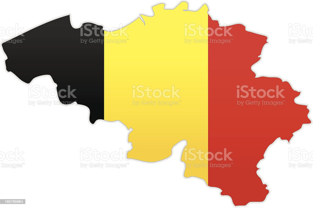 Belgium map with flag royalty-free stock vector art