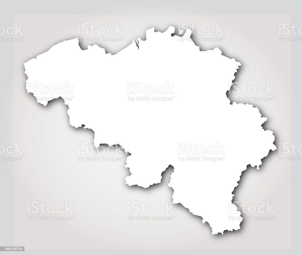 Belgium Silhouette White vector art illustration