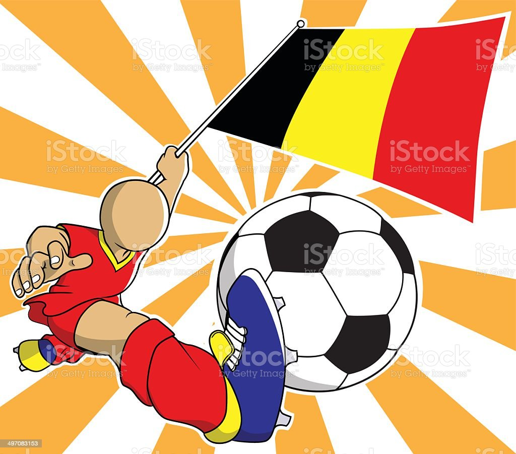Belgium soccer player vector cartoon royalty-free stock vector art