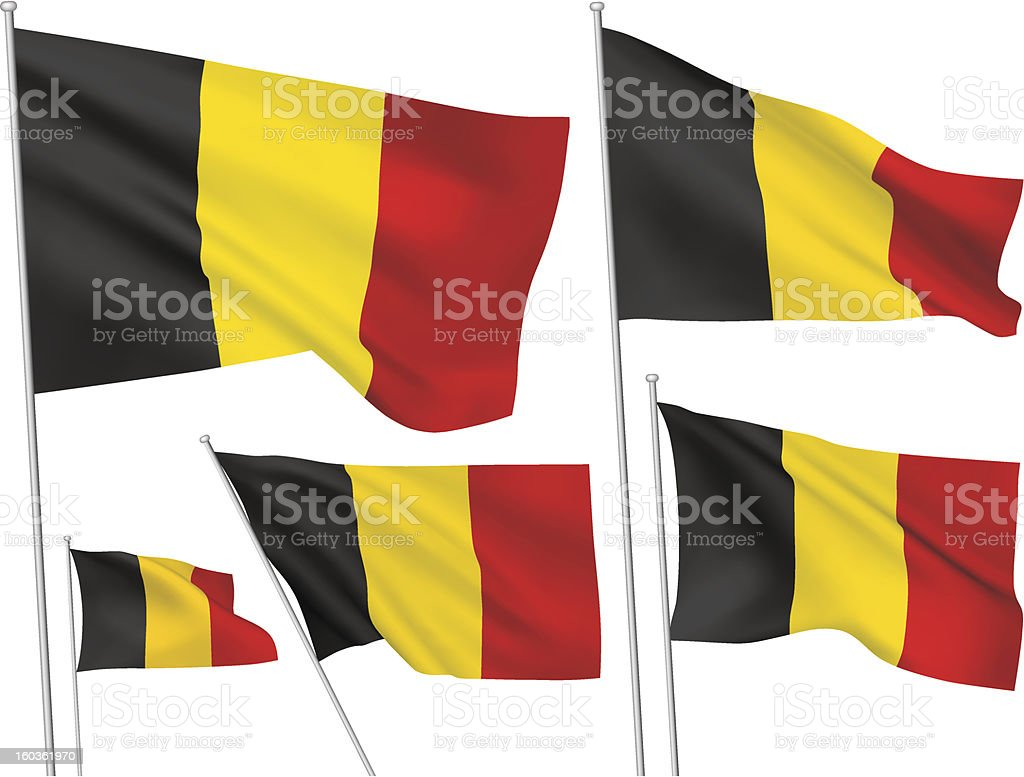 Belgium vector flags vector art illustration