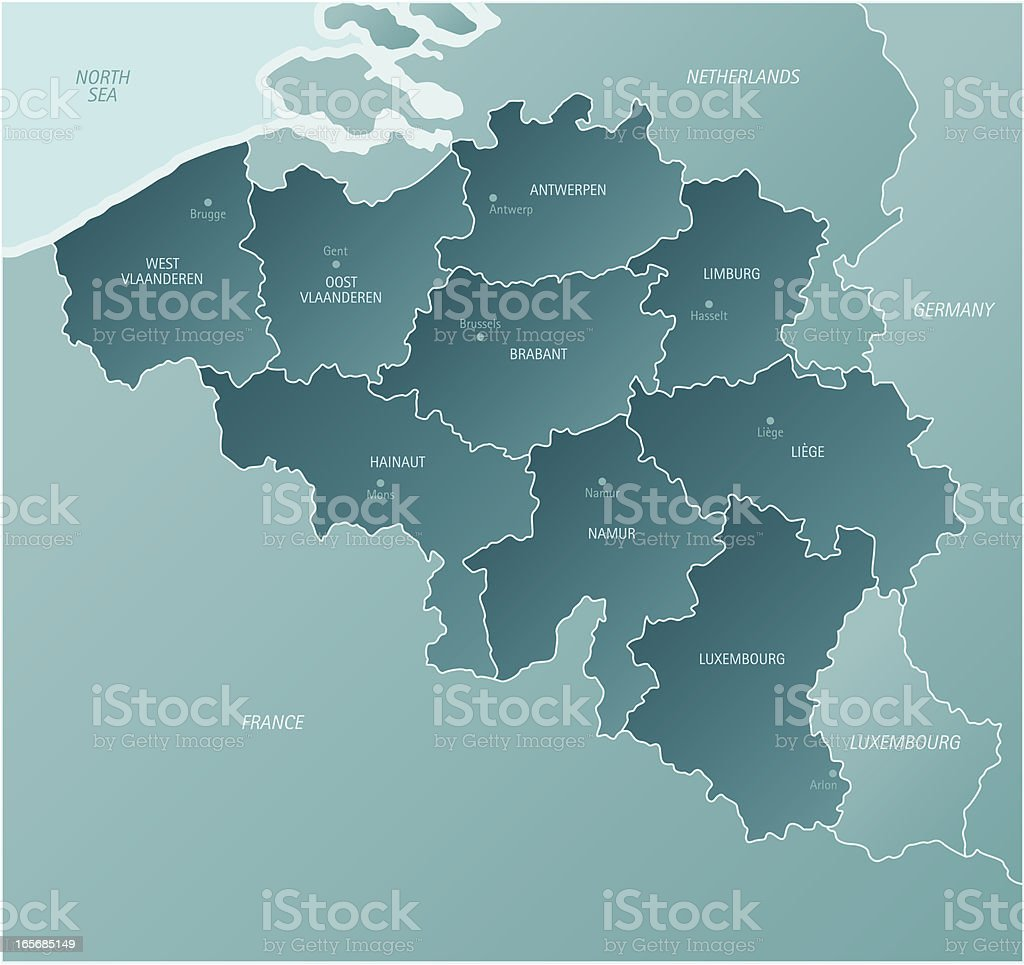 Belgium vector art illustration
