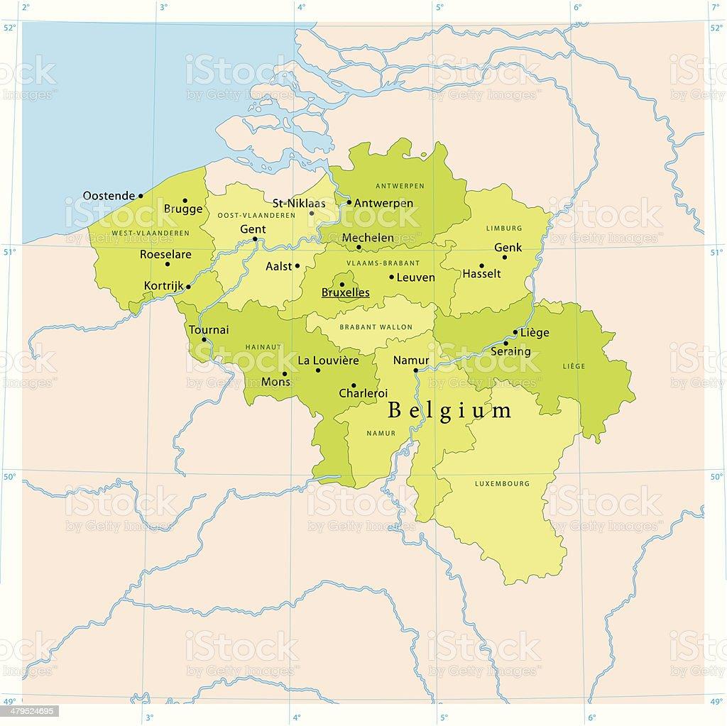 Belgium Vector Map vector art illustration