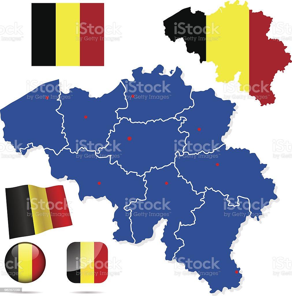 Belgium vector set. royalty-free stock vector art