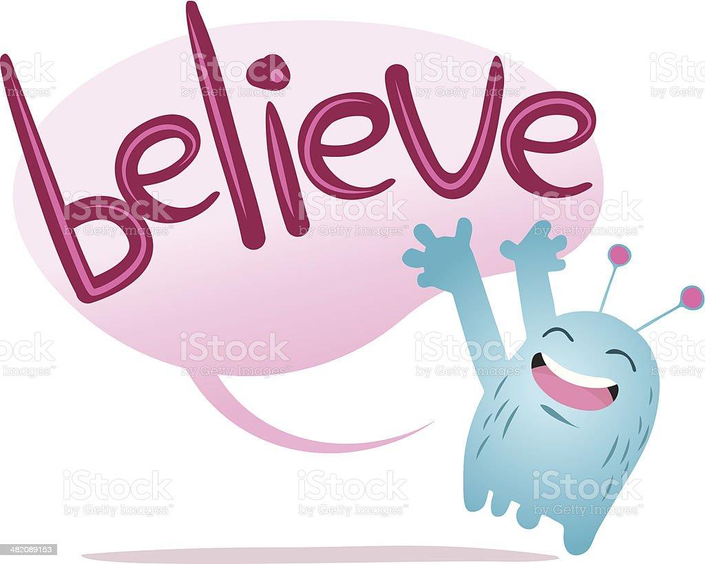 Believe Funny Monster royalty-free stock vector art