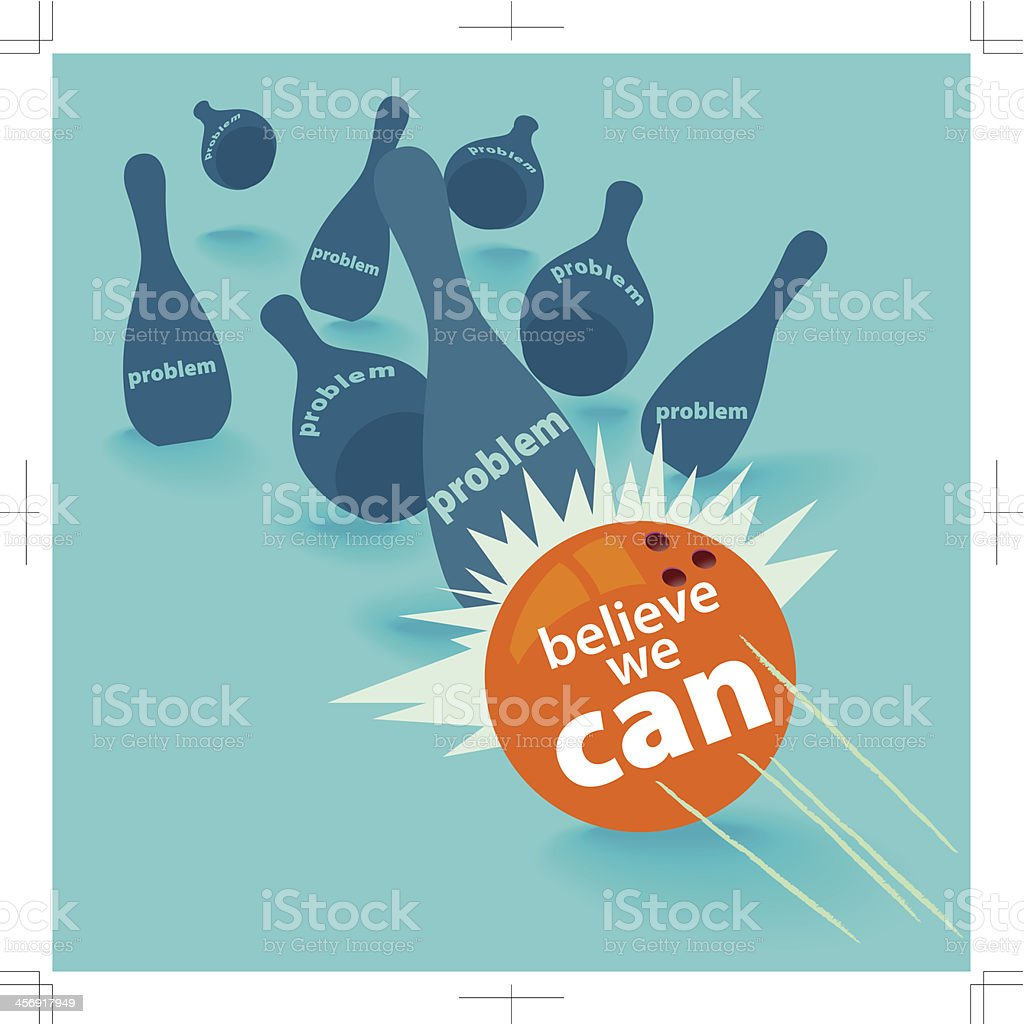 Belive we can royalty-free stock vector art