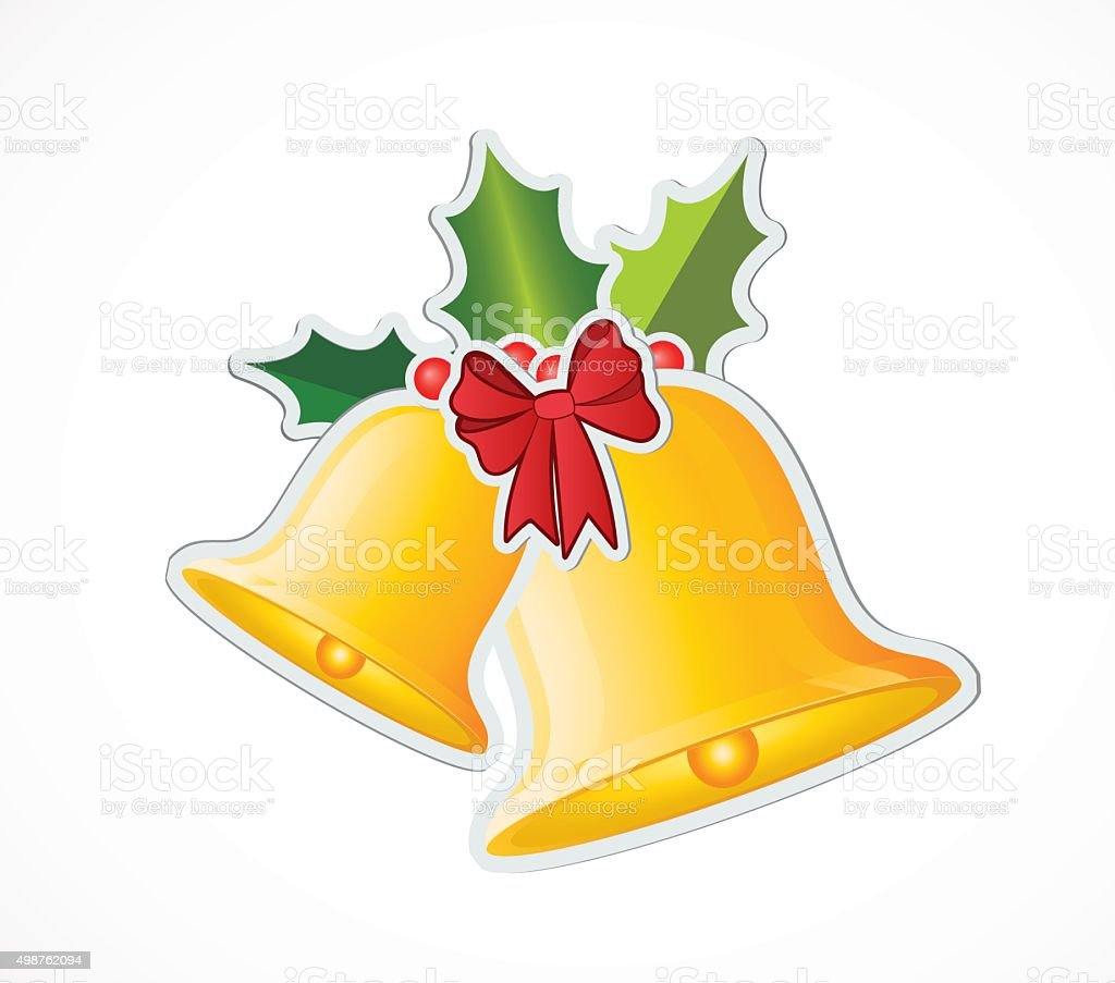 bell and ribbon - Illustration vector art illustration