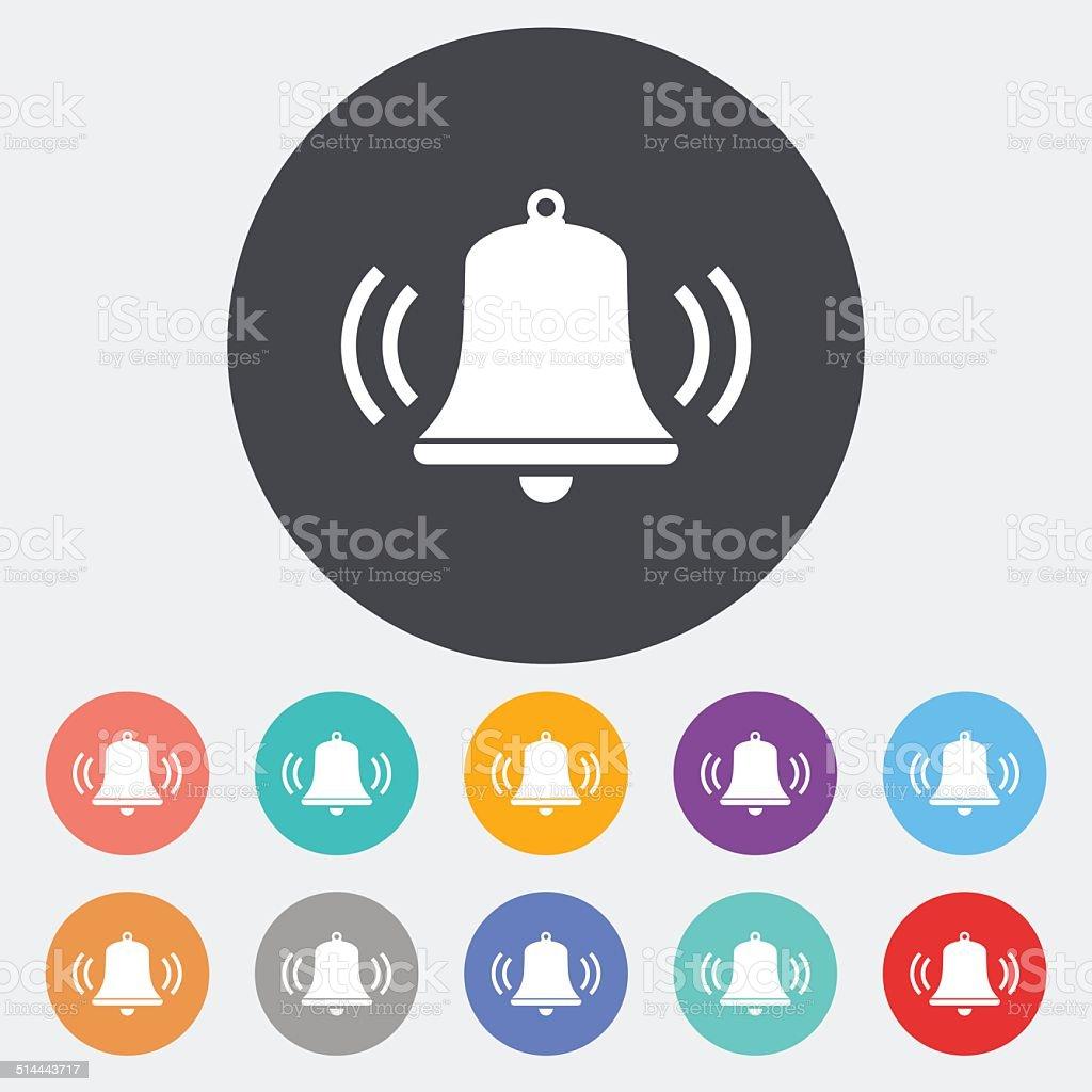 Bell icon. vector art illustration