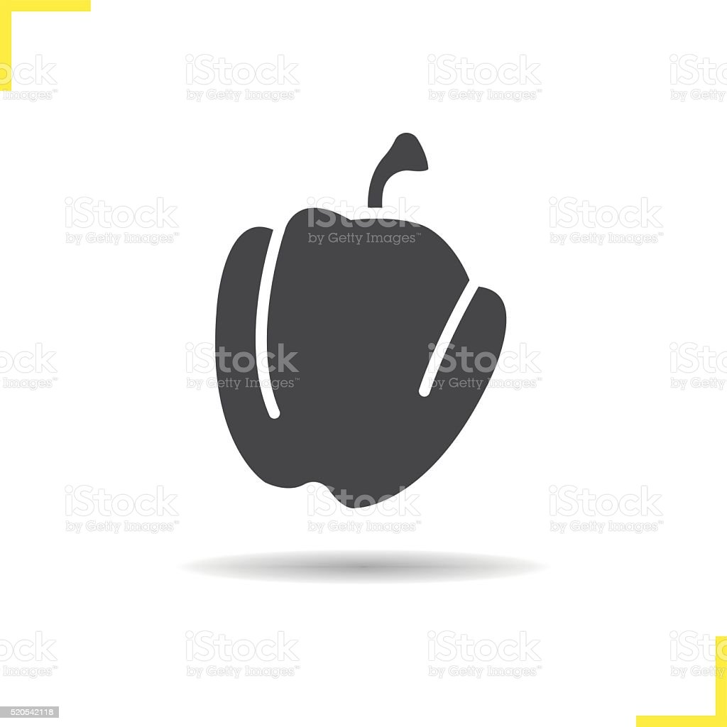Bell pepper icon vector art illustration