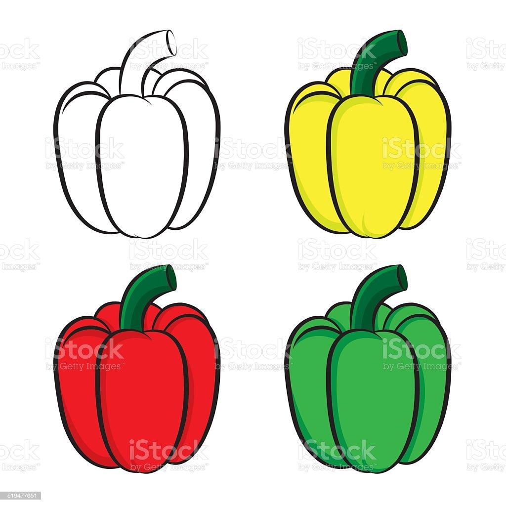 Bell pepper vector art illustration
