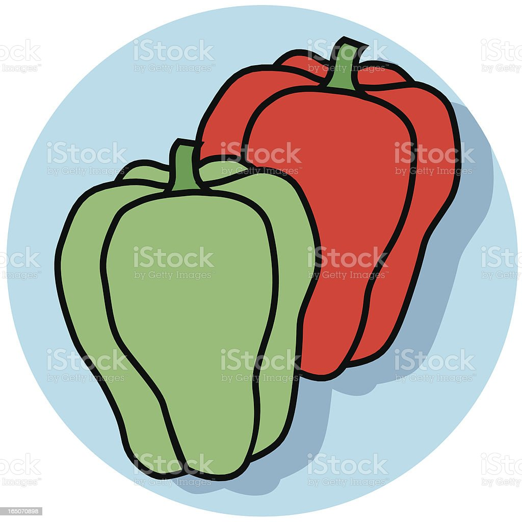 bell peppers icon royalty-free stock vector art