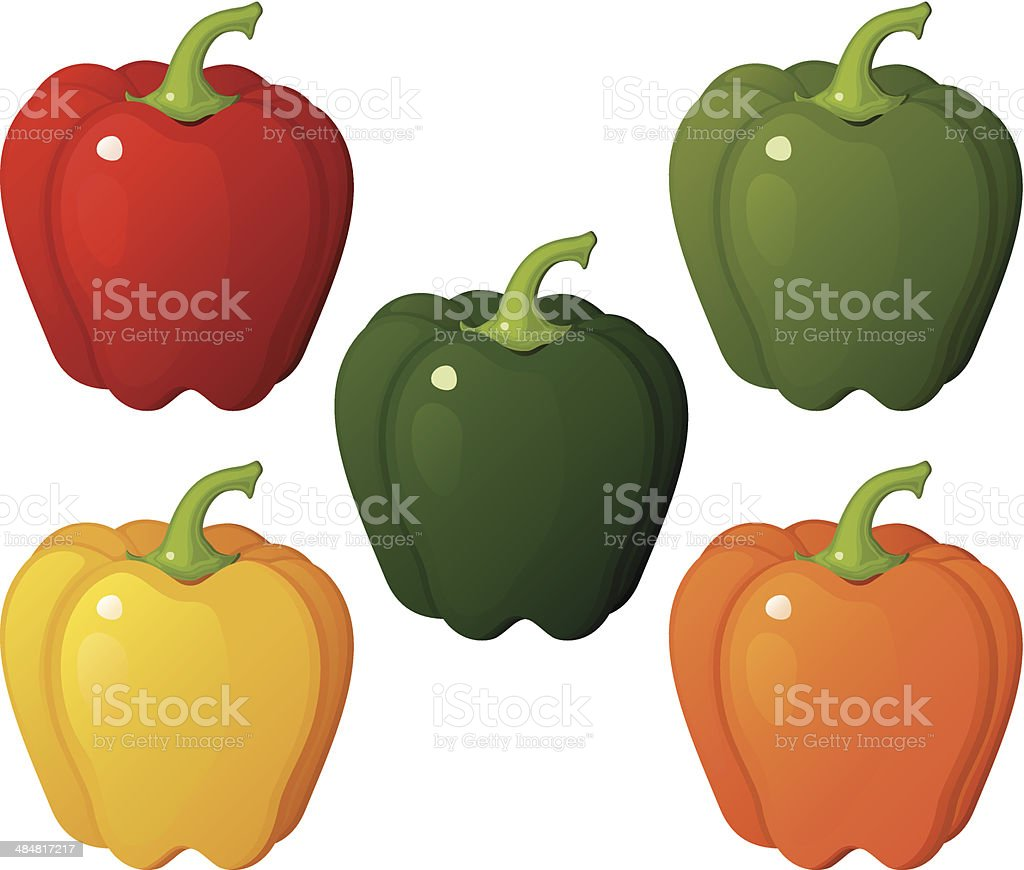 Bell Peppers royalty-free stock vector art