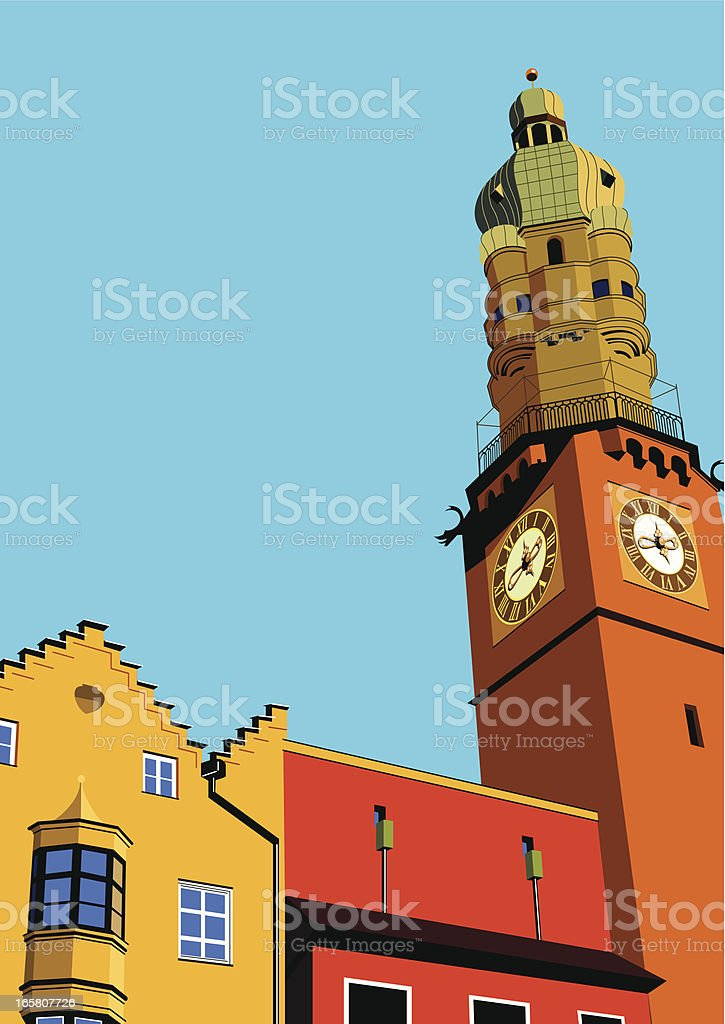 bell tower royalty-free stock vector art