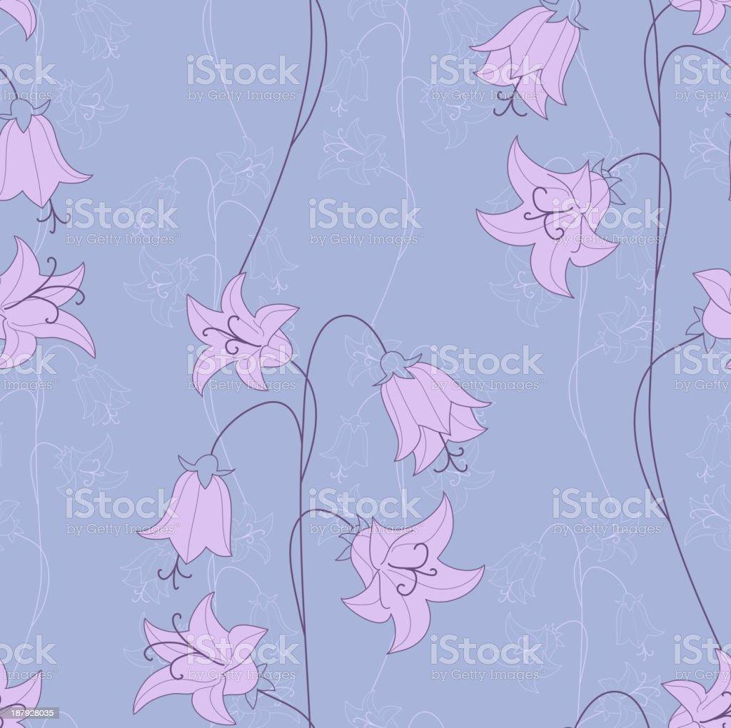 bellflower seamless vector art illustration