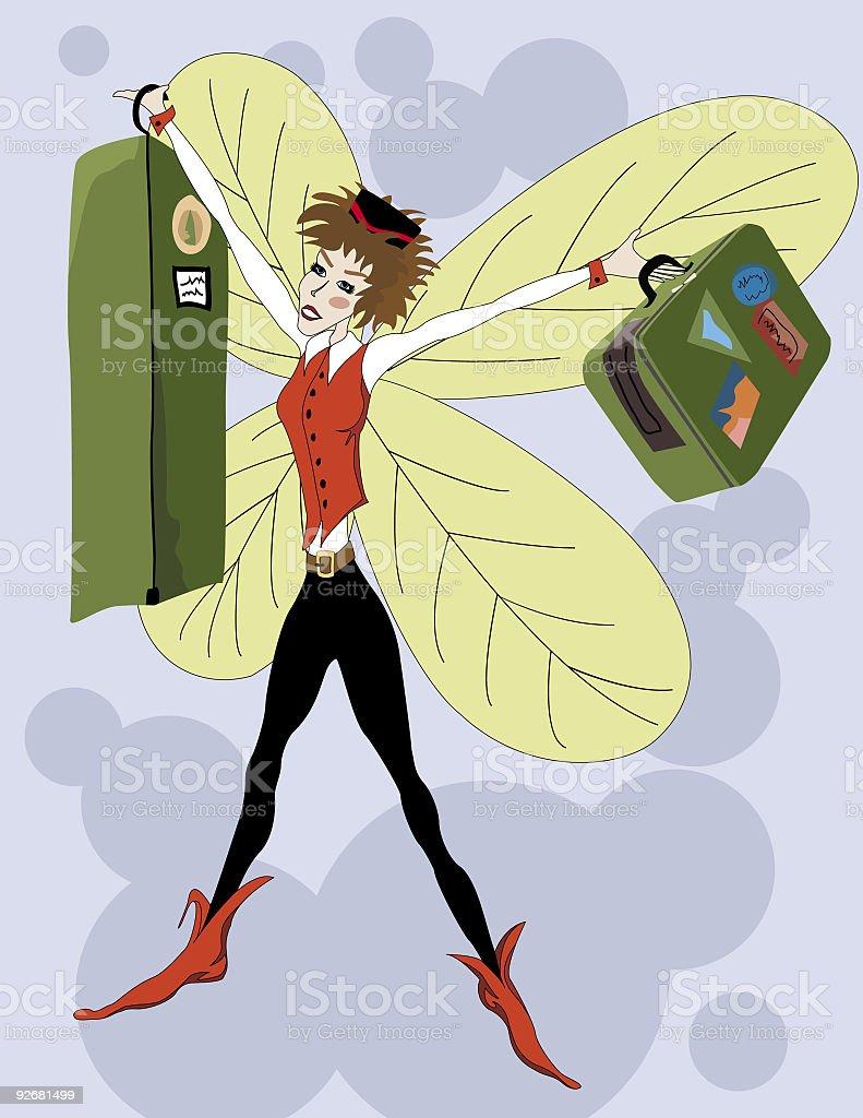 Bellhop Fairy vector art illustration