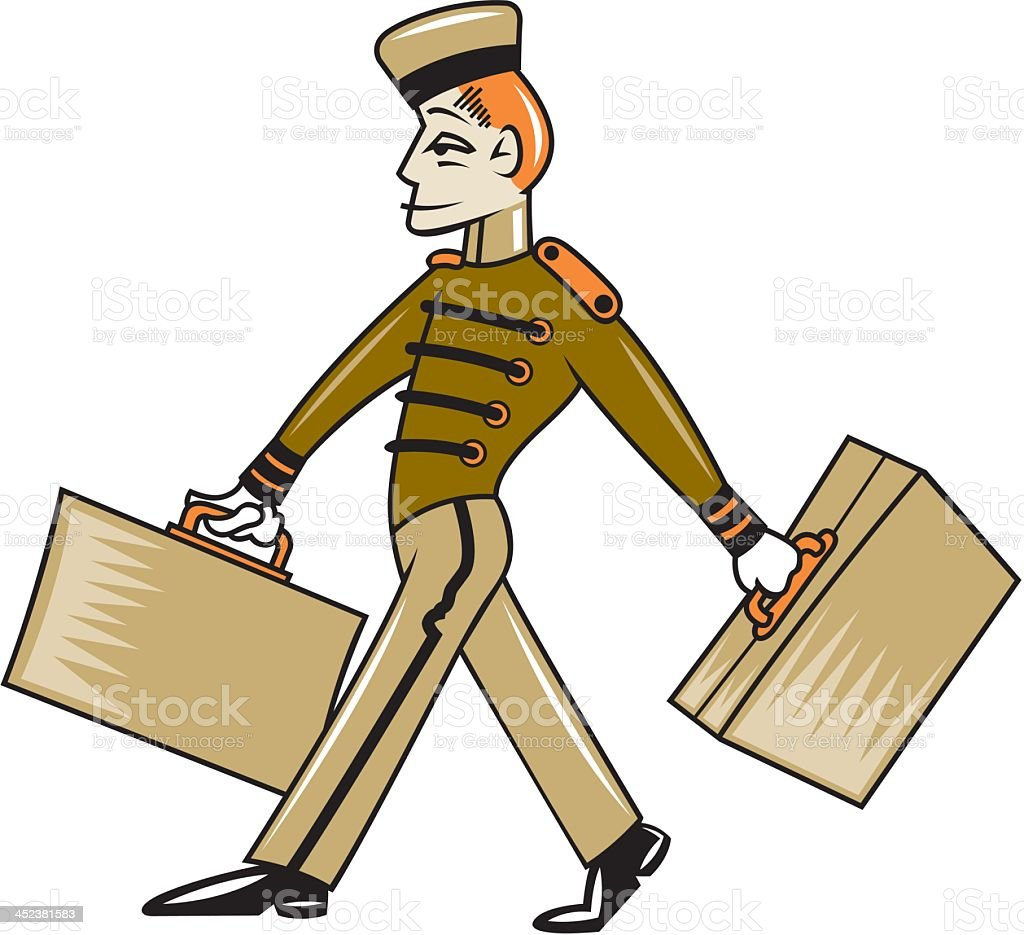 Bellhop royalty-free stock vector art