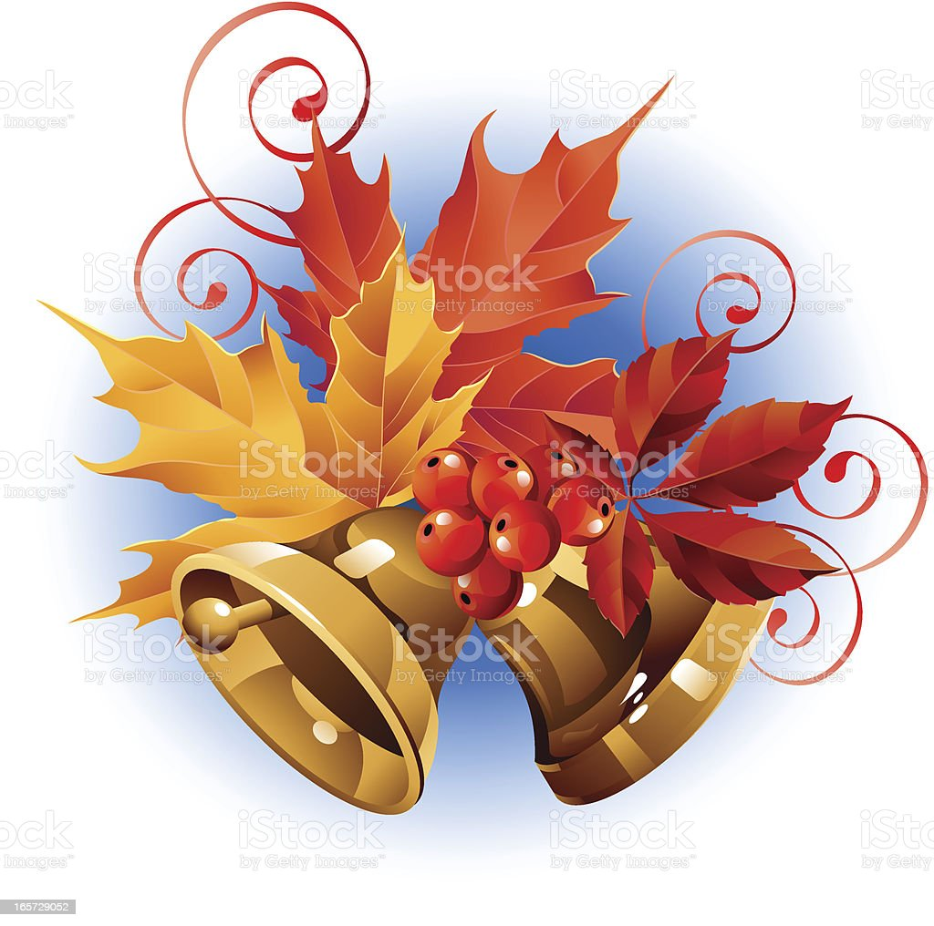 Bells are autumn vector art illustration