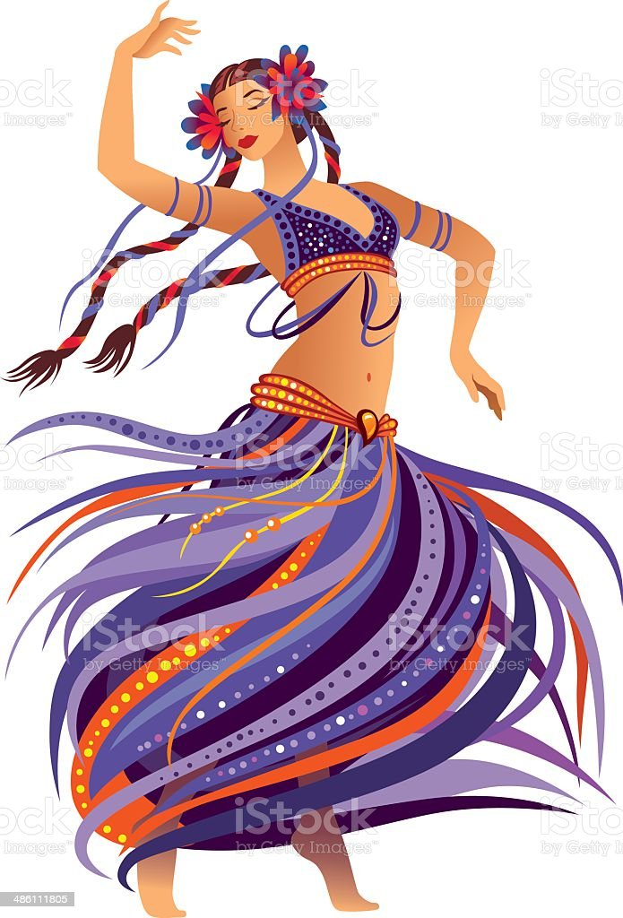 Belly Dancer royalty-free stock vector art