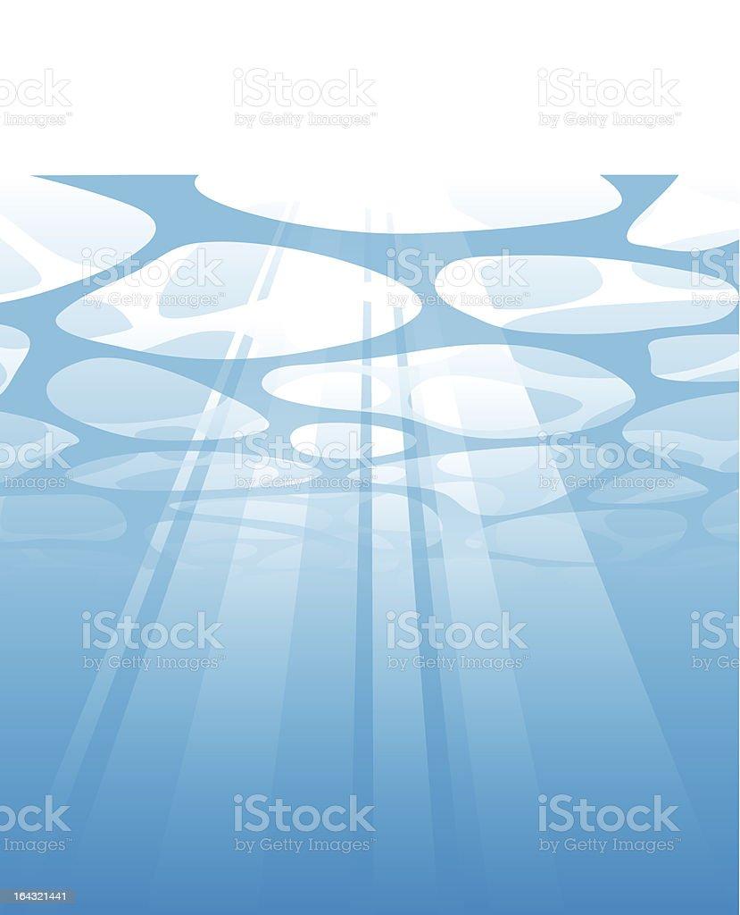 Sotto acqua illustrazione royalty-free