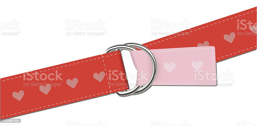 Belt with heart shape graphic royalty-free stock vector art