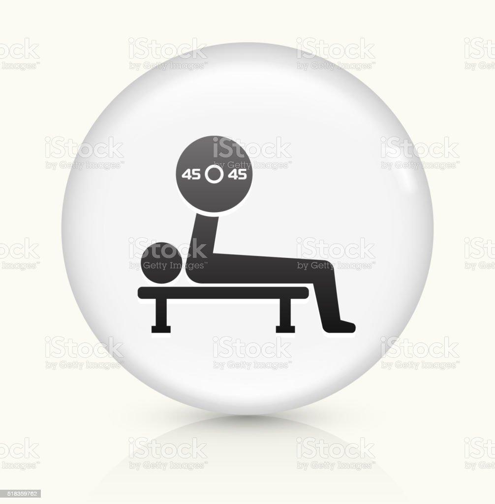 Bench Press icon on white round vector button vector art illustration