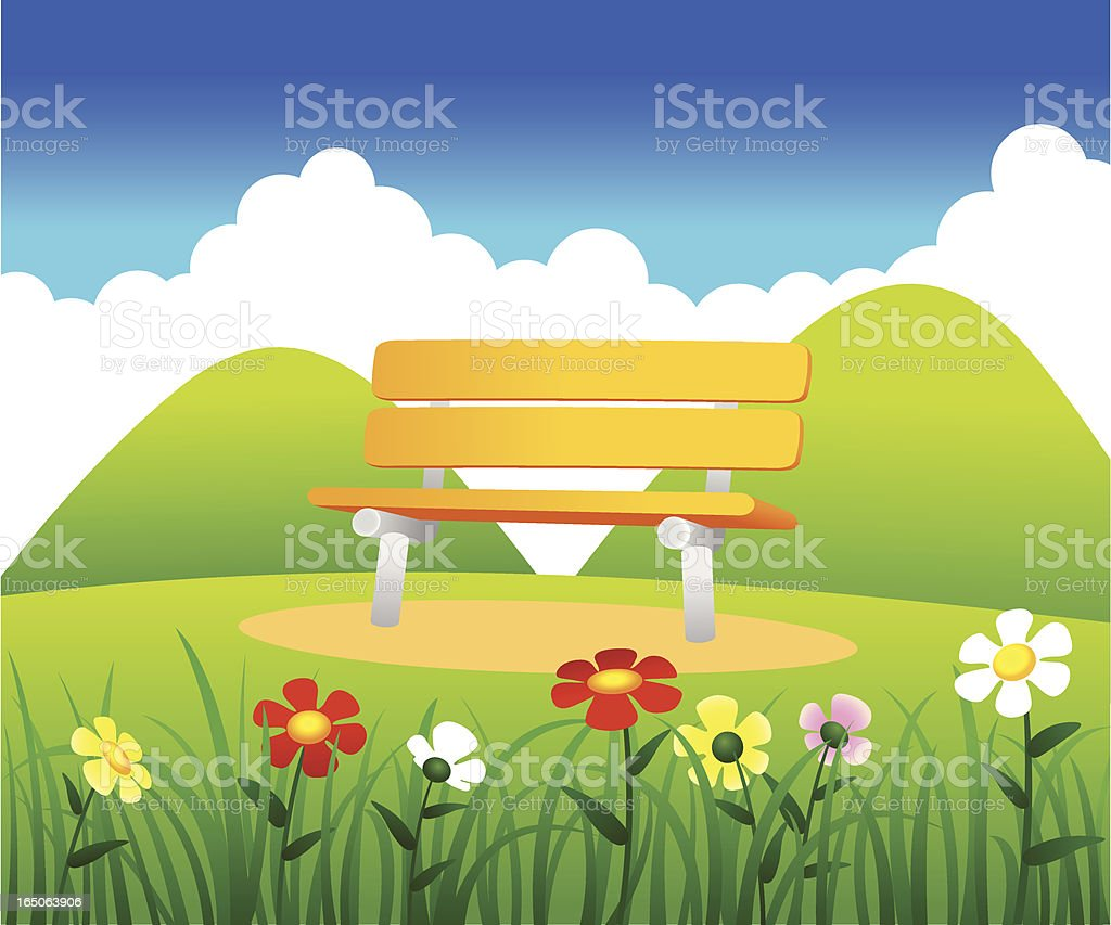 Bench royalty-free stock vector art