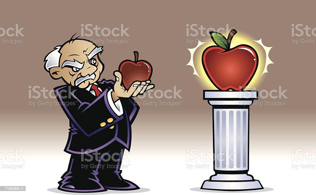 Benchmarking Apples royalty-free stock vector art