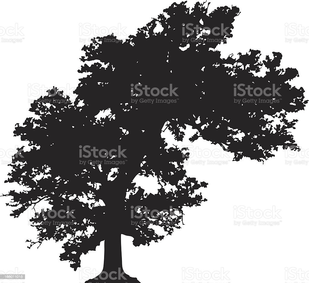 Bended tree silhouette vector royalty-free stock vector art