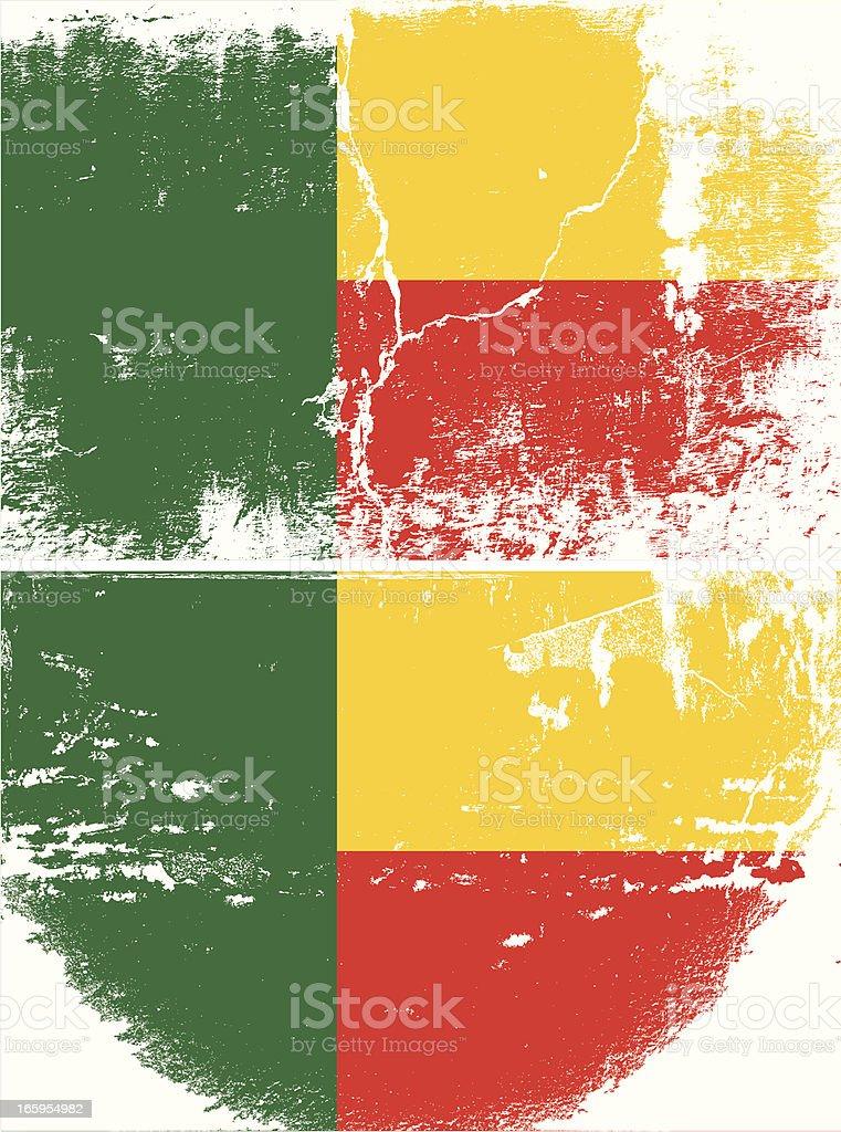 Benin Grunge flag royalty-free stock vector art