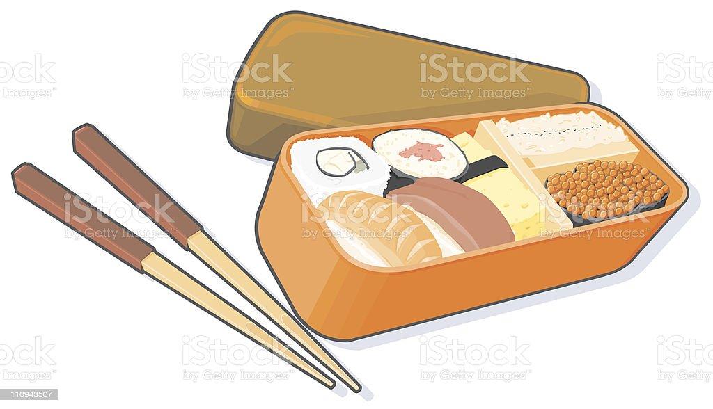 Bento Lunch Box vector art illustration