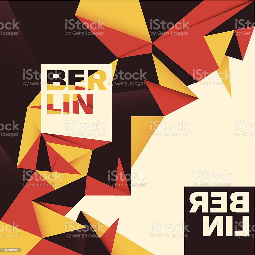 Berlin background with abstraction in color. vector art illustration