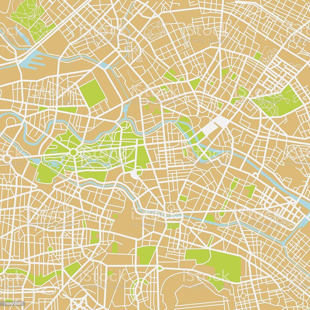 Berlin city map vector art illustration