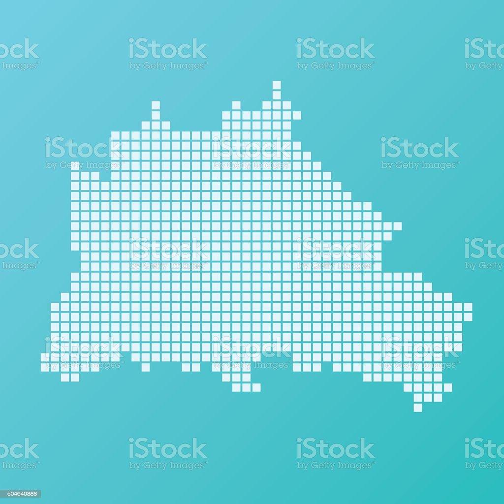 Berlin Map Basic Square Pattern Turquoise vector art illustration