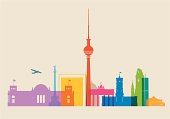 Berlin Skyline colored