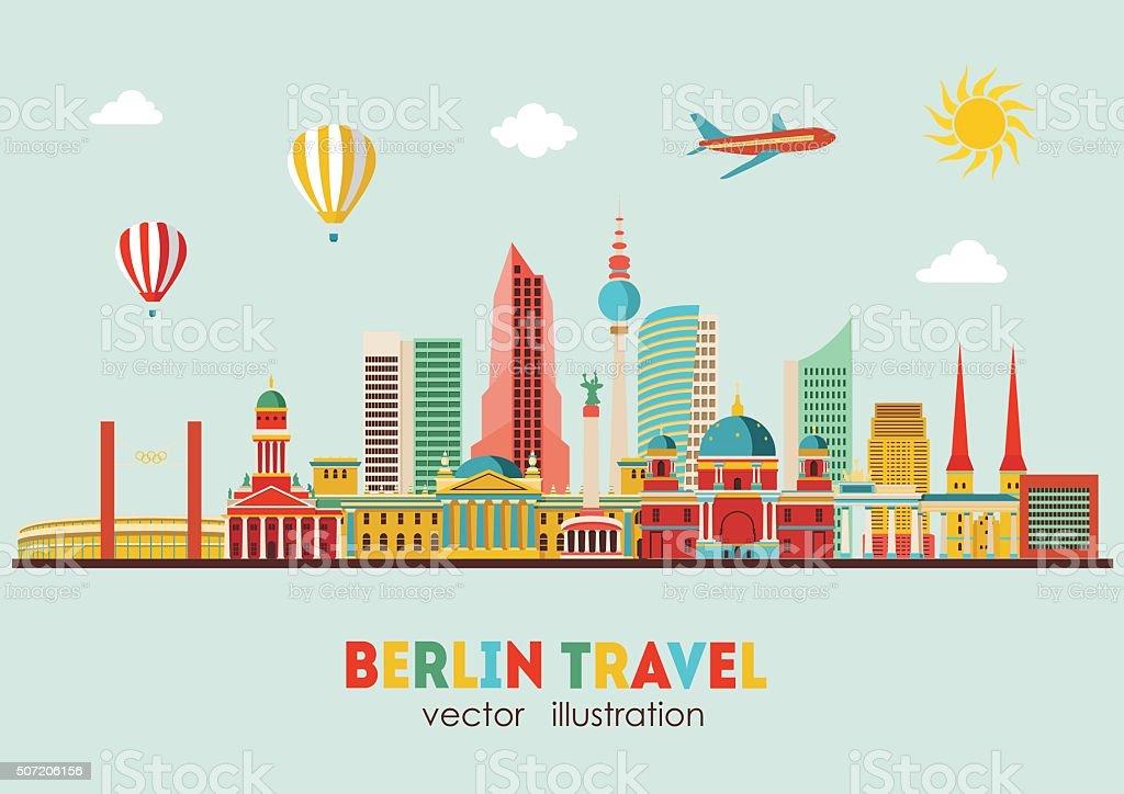 Berlin skyline. Vector illustration vector art illustration