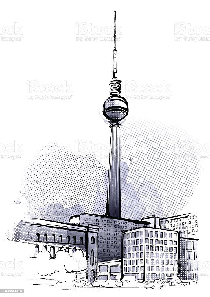 Berlin Tower vector art illustration