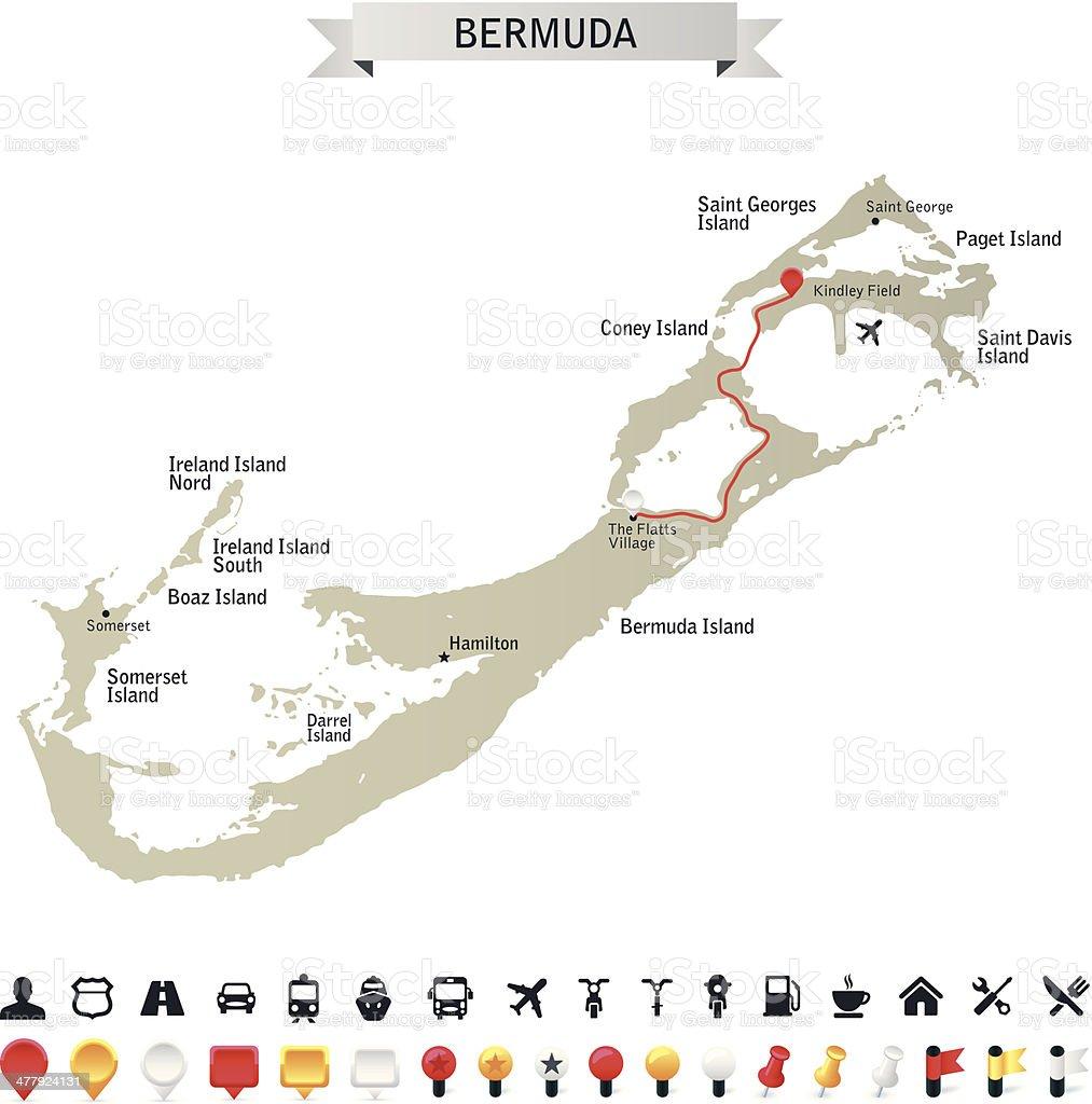 Bermuda royalty-free stock vector art