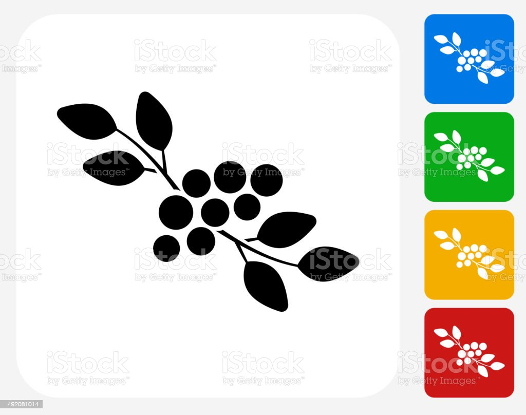 Berries Icon Flat Graphic Design vector art illustration