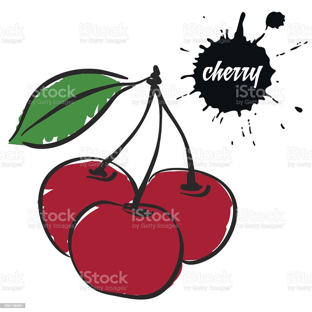 berries red cherry stock vecteur libres de droits libre de droits