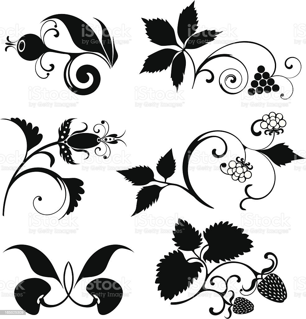 Berries set royalty-free stock vector art