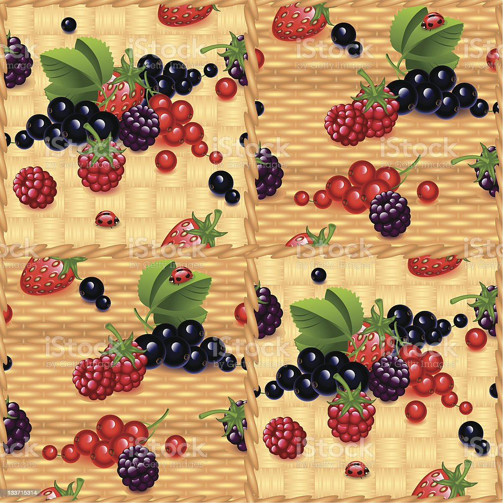 berry background royalty-free stock vector art