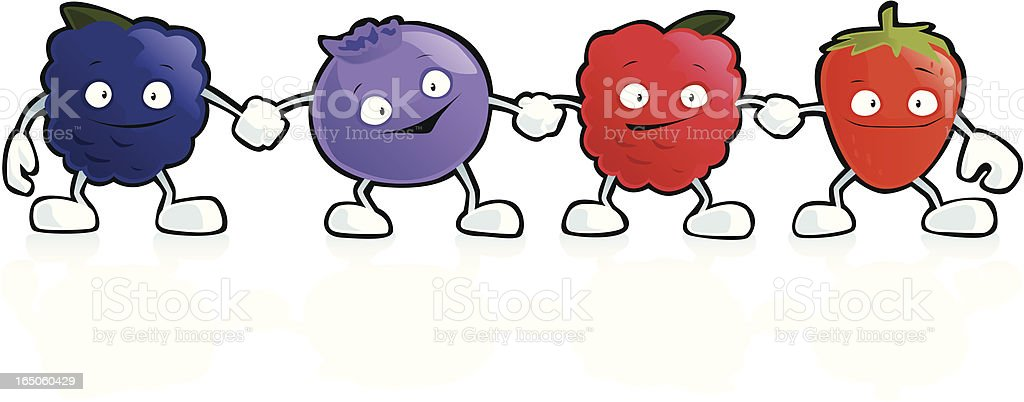 Berry Friends royalty-free stock vector art