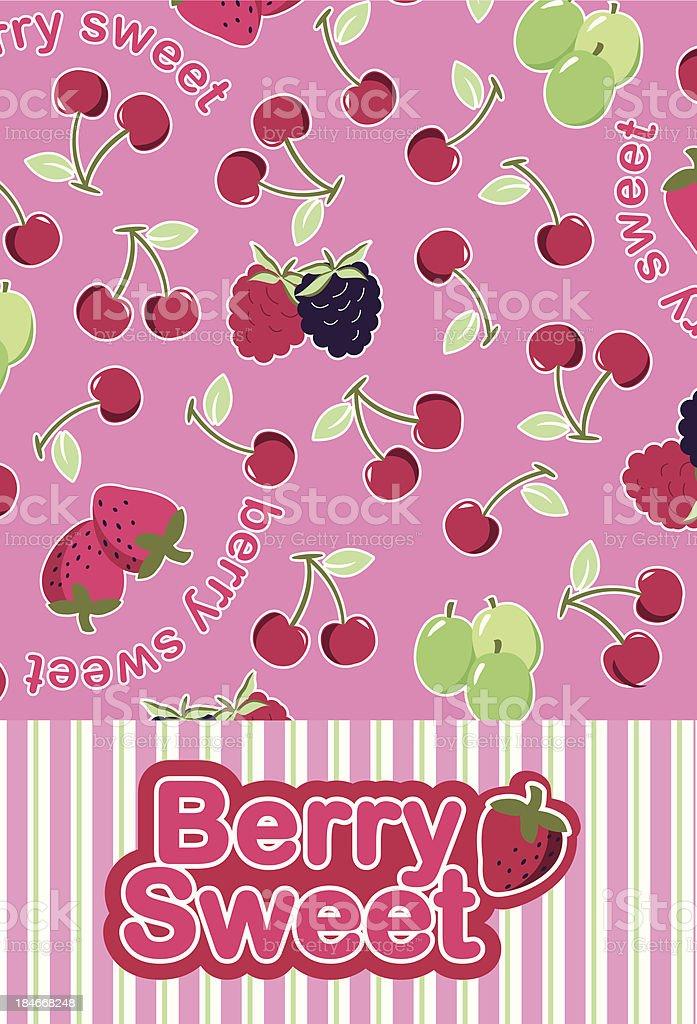 Berry Sweet royalty-free stock vector art