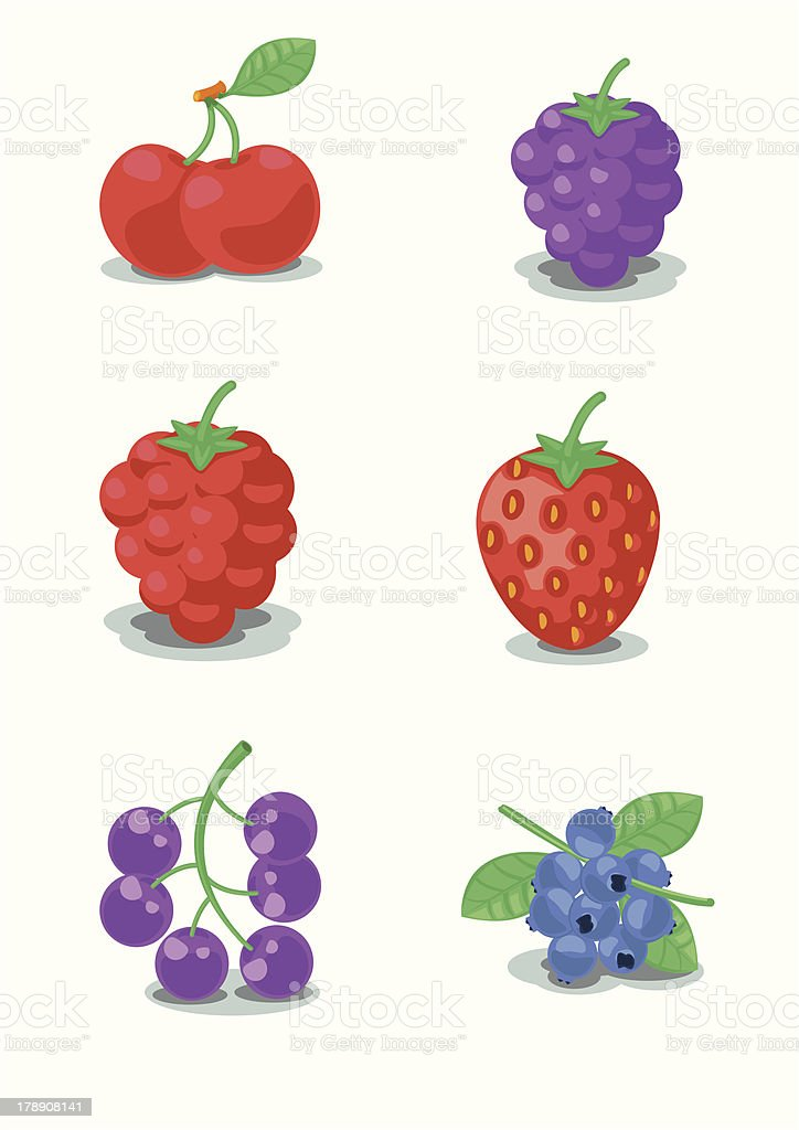 Berrys collection royalty-free stock vector art