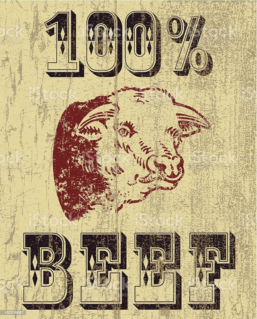 Best beef vector art illustration