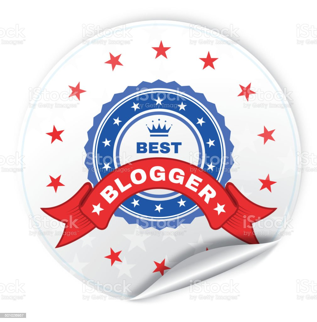 Best Blogger vector art illustration