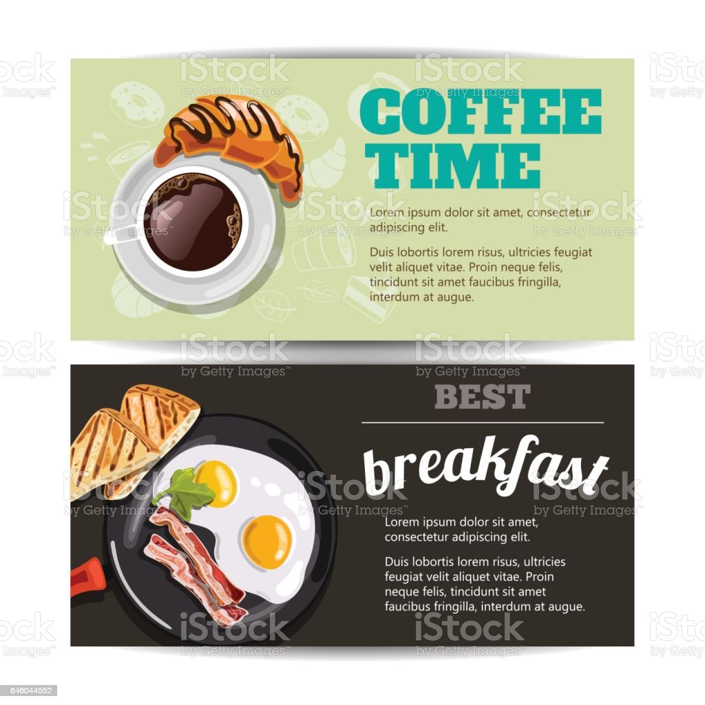 Best breakfast vector art illustration