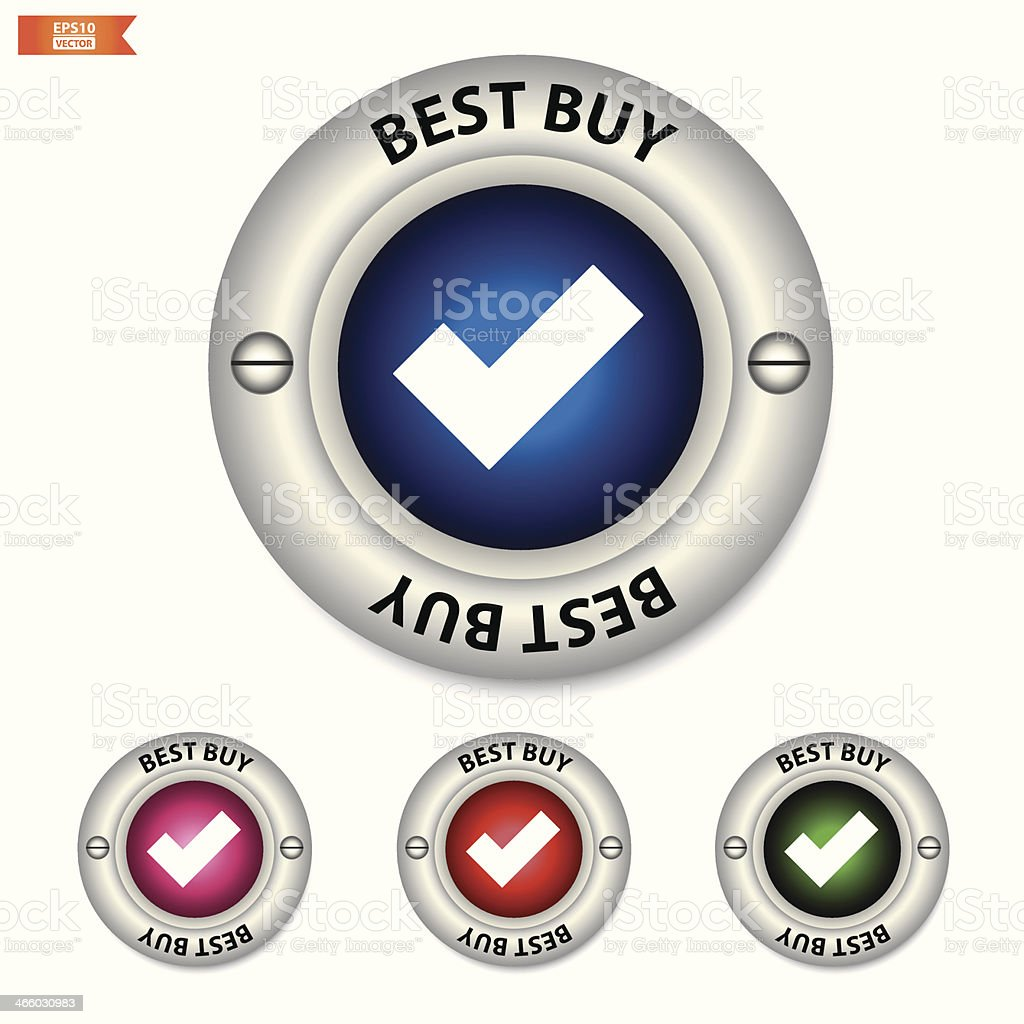 best buy button, icon, sign colorful. royalty-free stock vector art