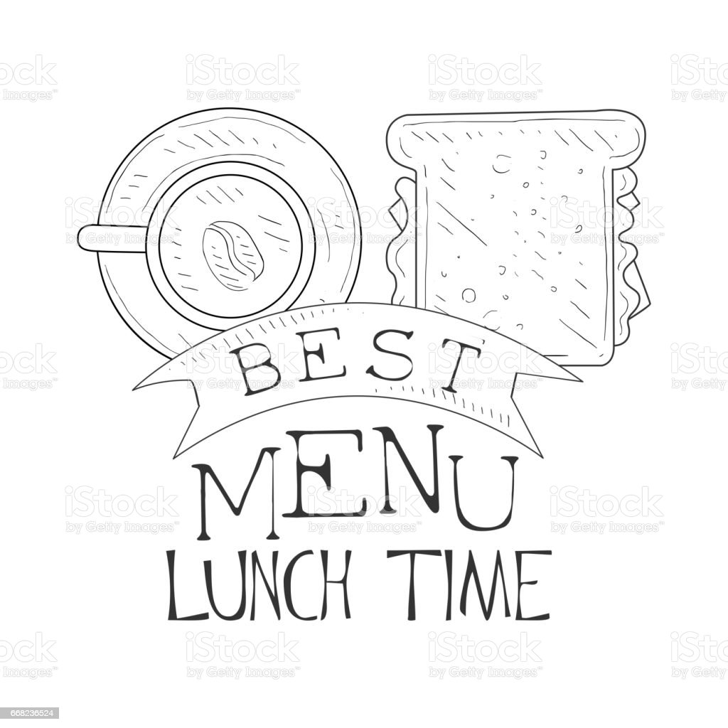 best cafe lunch menu promo sign in sketch style with sandwich and vector id668236524 best cafe lunch menu promo sign in sketch style with sandwich and on sandwich label template